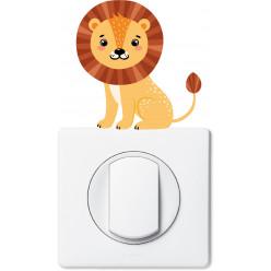 Stickers lion pour prise et interrupteur