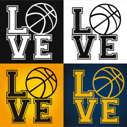 Stickers love basketball