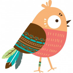 Stickers oiseau indien
