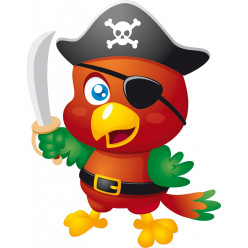 Stickers oiseau pirate