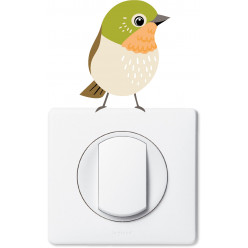 Stickers oiseau pour prise et interrupteur