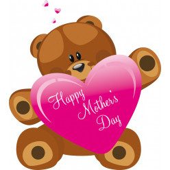 Stickers ourson fêtes des mères