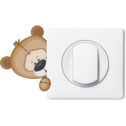 Stickers ourson pour prise et interrupteur