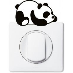 Stickers panda pour prise et interrupteur