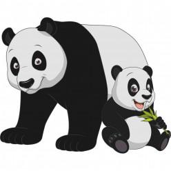 Stickers pandas