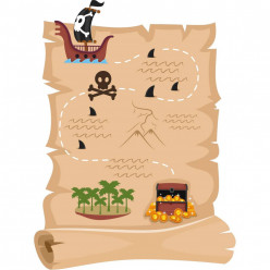 Stickers parchemin pirate