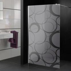 Stickers paroi de douche dépoli cercle design 3