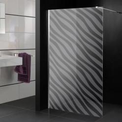 Stickers paroi de douche dépoli design 7
