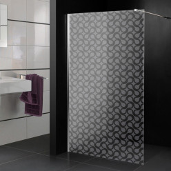 Stickers paroi de douche dépoli design 9