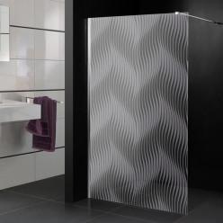 Stickers paroi de douche dépoli dunes design
