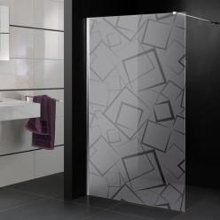 Stickers paroi de douche dépoli envole de carré