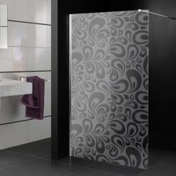 Stickers paroi de douche dépoli gouttes design 3