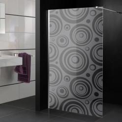 Stickers paroi de douche dépoli multicercles