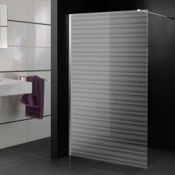 Stickers paroi de douche dépoli rayures