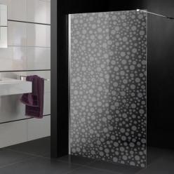 Stickers paroi de douche dépoli ronds 4