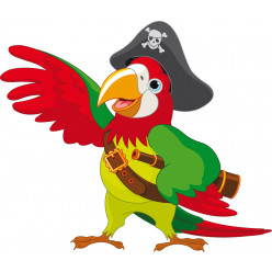 Stickers perroquet pirate