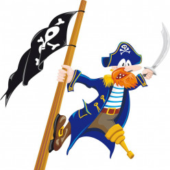 Stickers pirate et drapeau