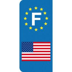 Stickers Plaque Amérique