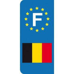 Stickers Plaque Belgique