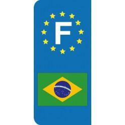 Stickers Plaque Brésil