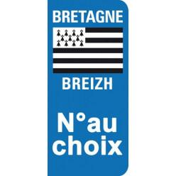 Stickers Plaque Bretagne