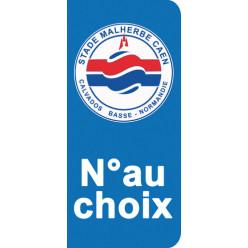 Stickers Plaque Caen