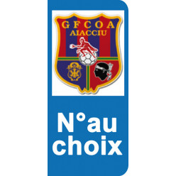 Stickers Plaque GFCOA Ajaccio