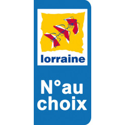 Stickers Plaque Lorraine