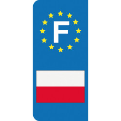 Stickers Plaque Pologne