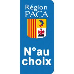Stickers Plaque Provence Alpes Côte d'Azur