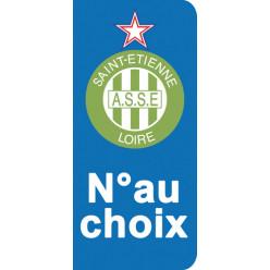 Stickers Plaque Saint Etienne