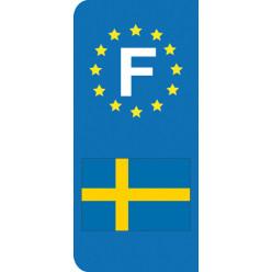Stickers Plaque Suède