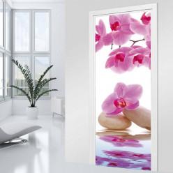 Stickers Porte Orchidée mauve