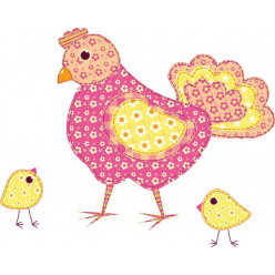 Stickers poule et poussins