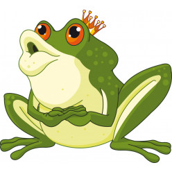 Stickers prince grenouille
