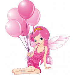 Stickers princesse ballon