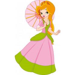 Stickers princesse ombrelle