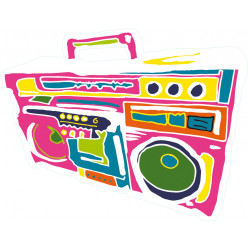 Stickers radio multicolore