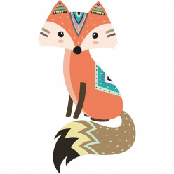 Stickers renard indien
