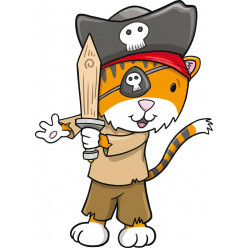 Stickers renard pirate