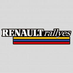 Stickers renault rallyes