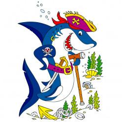 Stickers Requin Pirate