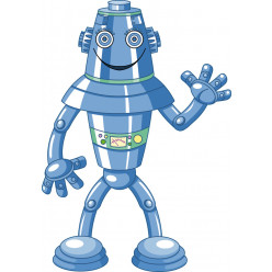 Stickers robot bleu