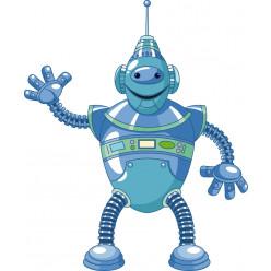 Stickers robot bonjour