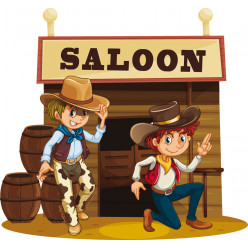 Stickers saloon