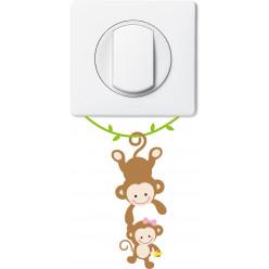 Stickers singes pour prise et interrupteur