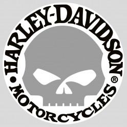 Stickers skull harley davidson