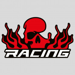 Stickers skull racing