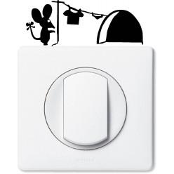 Stickers souris pour prise et interrupteur