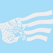 Stickers statue liberté Blanche  108x169 cm (3 parties)